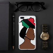 African American Head Wrap Queen iPhone Case