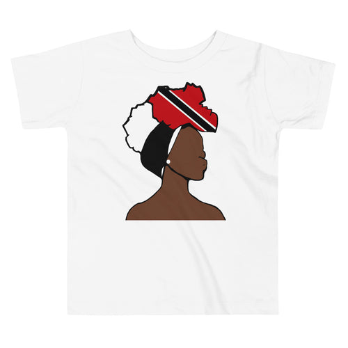 Trinidad and Tobago Head Wrap Queen Toddler Premium Tee