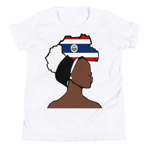 Costa Rica Head Wrap Queen Youth Premium Tee