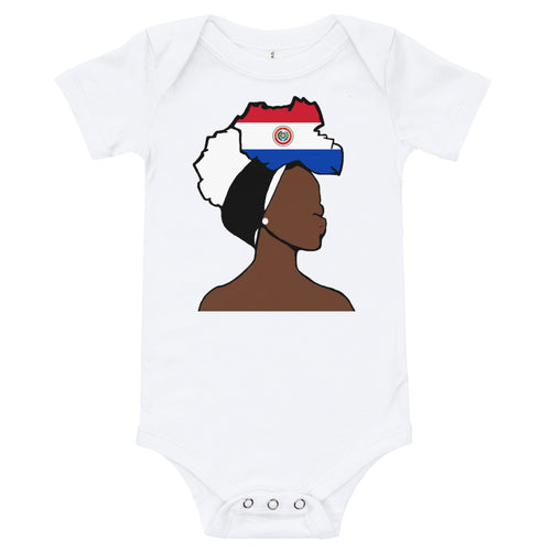 Paraguay Head Wrap Queen Baby Short Sleeve One Piece