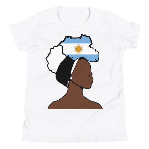 Argentina Head Wrap Queen Youth Premium Tee