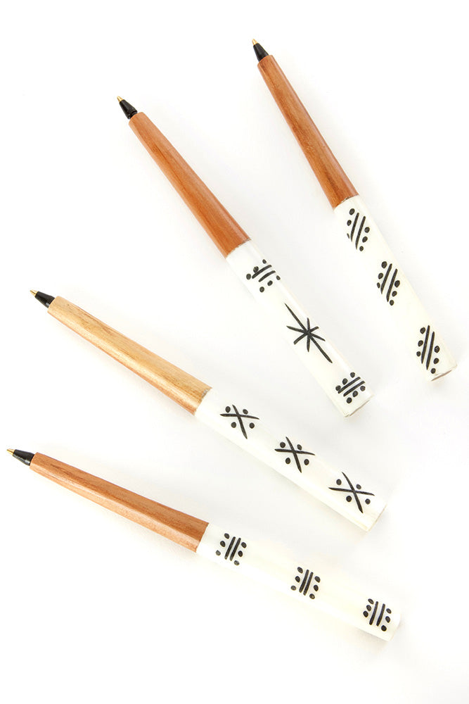 Akamba White Bone Ink Pen