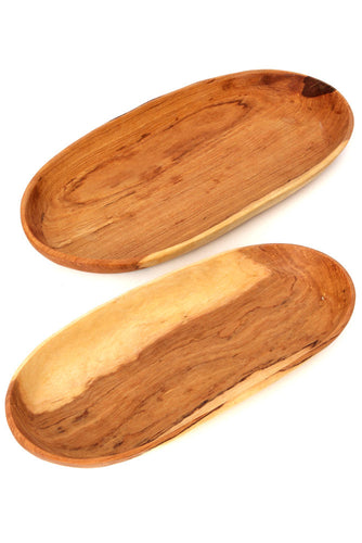 Chakula Oval Wild Olive Wood Serving Trays