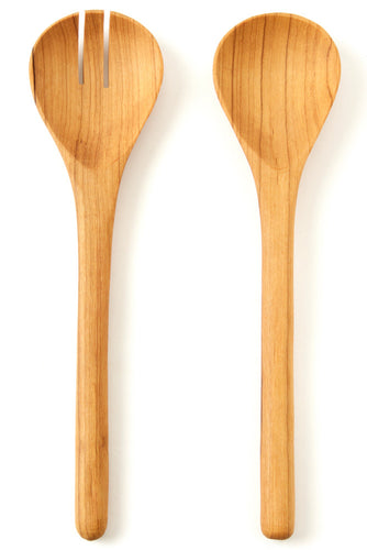 Kenyan Olive Wood Simple Salad Servers