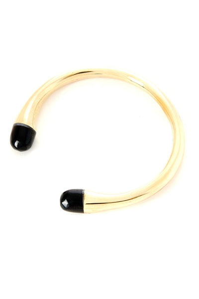 Kenyan Brass and Cow Horn Pirouette Bracelet