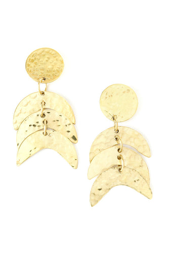 Kenyan Hammered Brass Falcon Earrings