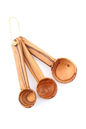 Set of 3 Wild Olive Wood Measuring Spoons