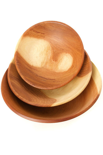 Mahogany Wood Salad Bowl from Zimbabwe