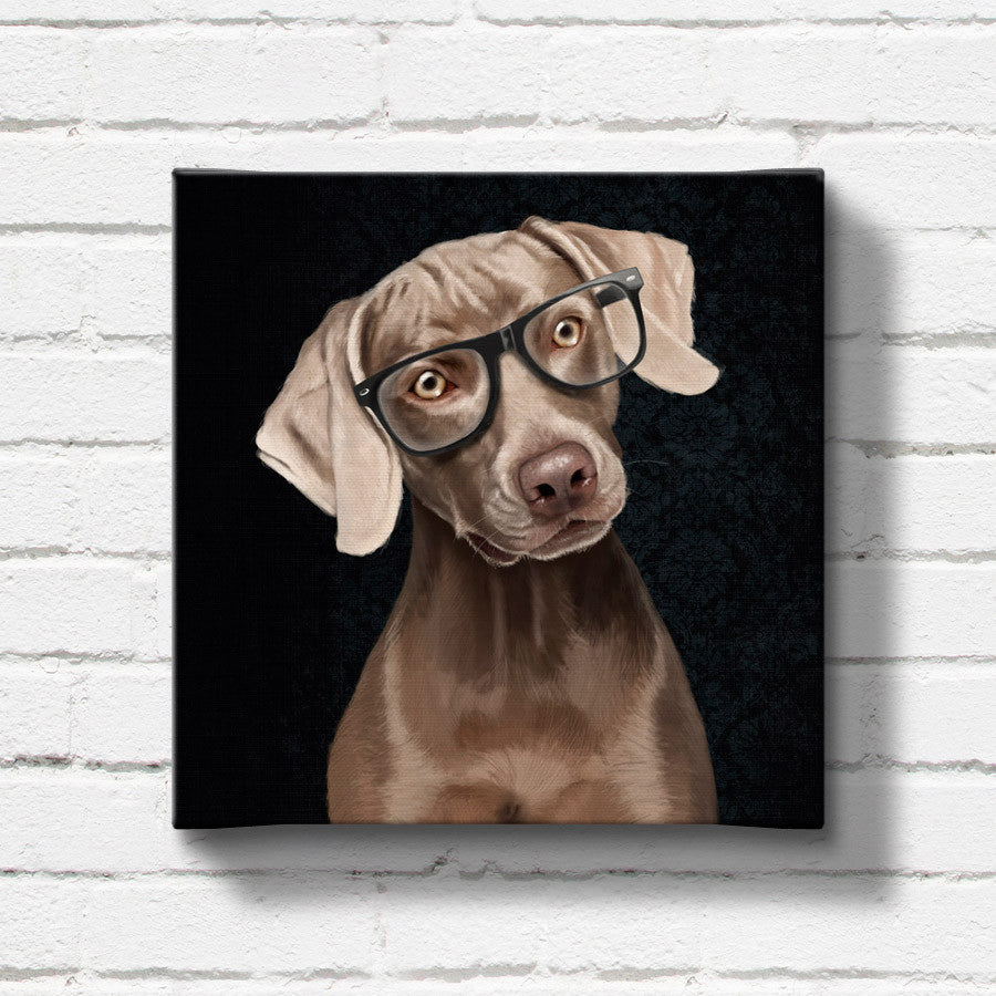 Weimaraner print on canvas