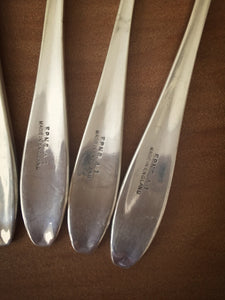 silver plated dessert forks - made in england