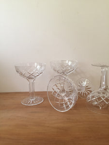 crystal hollow stem champagne glasses