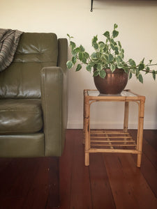 cane side table / plant stand