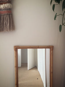 cane framed full length mirror
