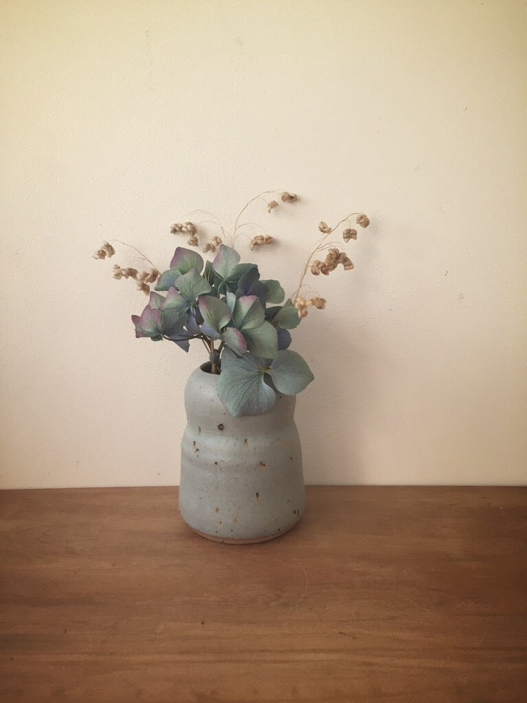 bud vase 38 - one of a kind - sea blue