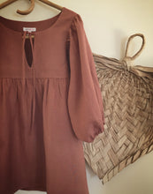 SOLD OUT - 100% linen smock top - ochre