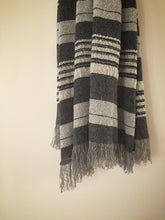 Load image into Gallery viewer, pure wool limited edition blanket - black - LAST ONE