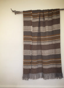 pure wool limited edition blanket - walnut