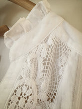 SOLD OUT - 100% medium weight cotton lace blouse - white