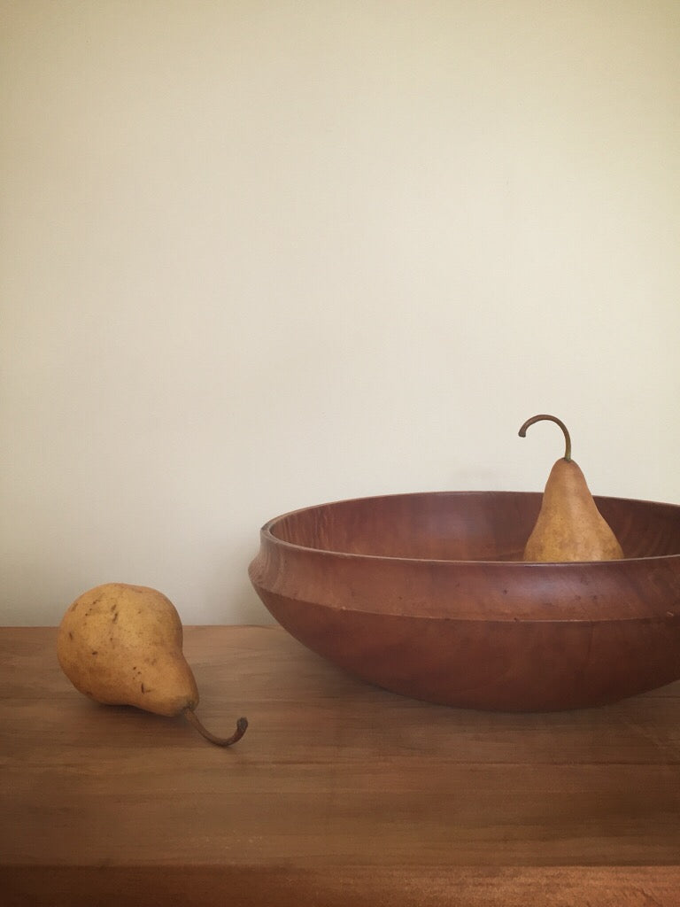 large hand crafted wooden bowl