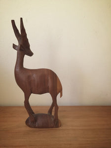 wooden carved deer
