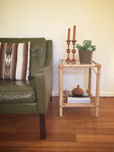 tall cane side table / plant stand