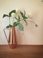 textured copper jug/vase