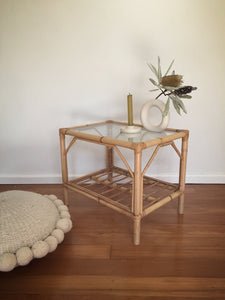 rectangular cane side table