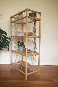 Cane unit with 4 glass shelves