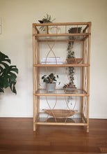Load image into Gallery viewer, Cane unit with 4 glass shelves