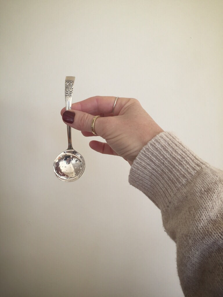 silver plated sugar spoon