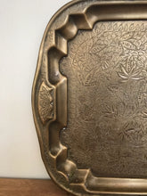 Load image into Gallery viewer, Brass flora patterned tray