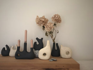 handbuilt sculptural vessel 7 - dipped black