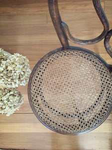 Beautiful bentwood rattan chair