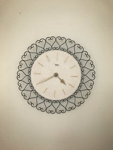 German mid century Diehl  wall clock