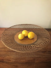 Wood base cane round tray