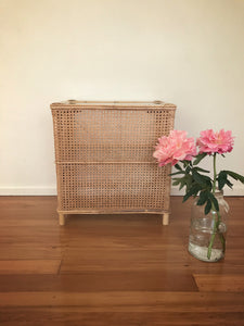 Rattan sided cane table