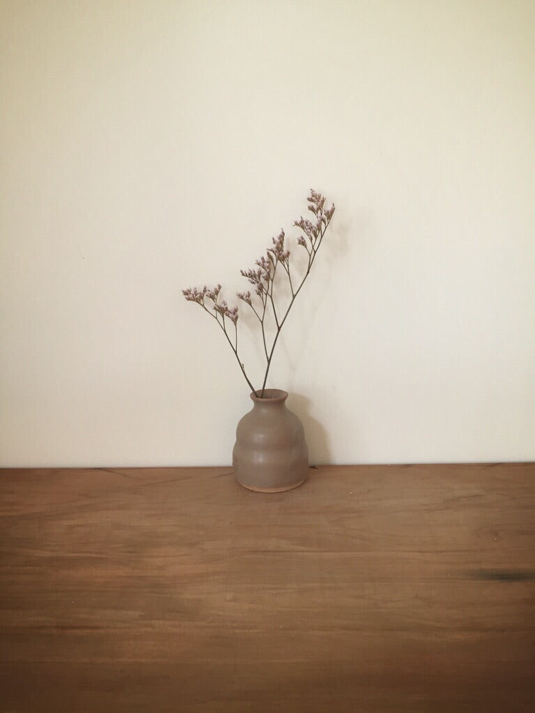 bud vase 83 - one of a kind - walnut