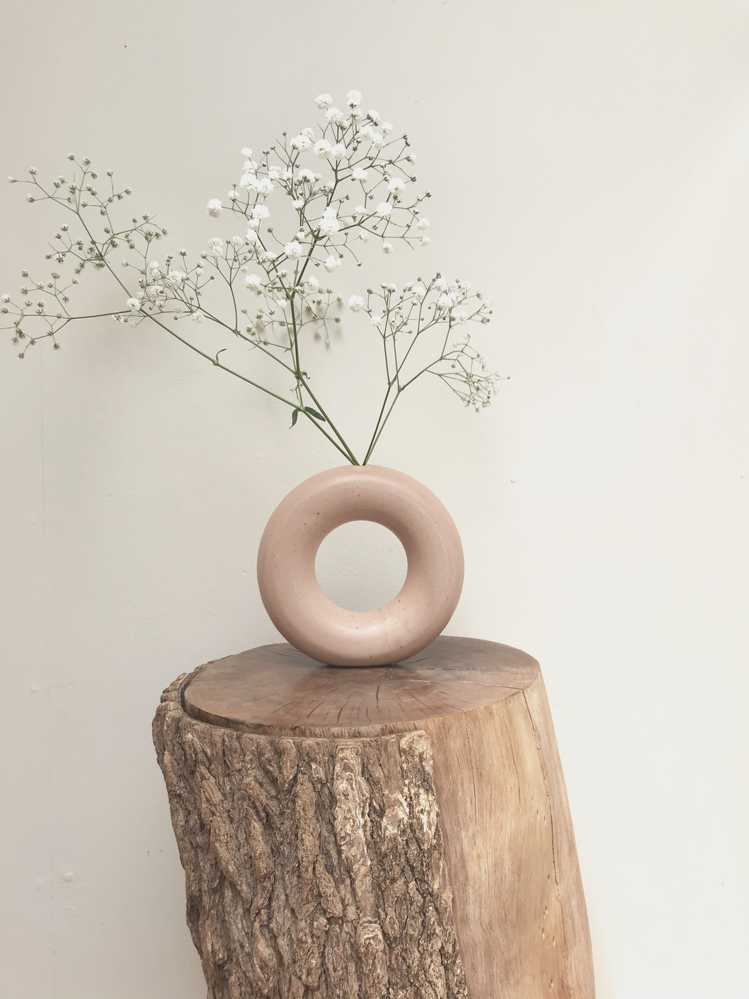 Large hoop vase - peach - 2 available