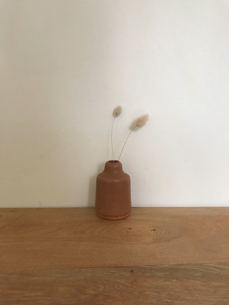 bud vase 129 - one of a kind - ochre
