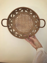 handled cane rattan base basket