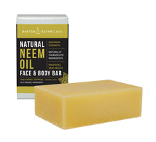 Barton Botanicals Neem Oil Face and Body Soap Bar, Fragrance Free