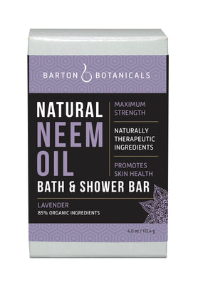 Barton Botanicals Neem Oil Bath and Shower Soap Bar, Lavender scented