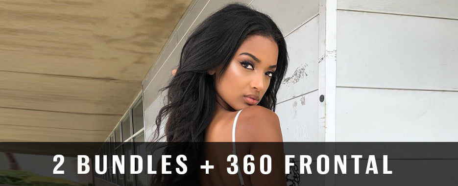 2 Bundles With 360 Frontal