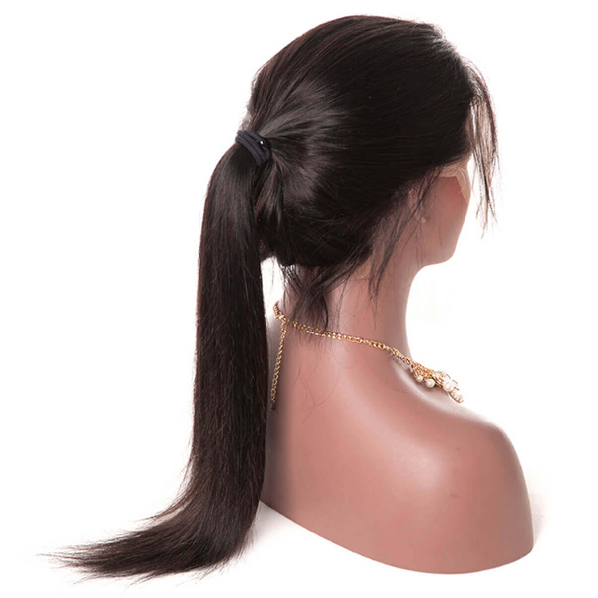 Lakihair 100% Unprocessed Human Hair Silky Straight Lace Front Wigs With Baby Hair