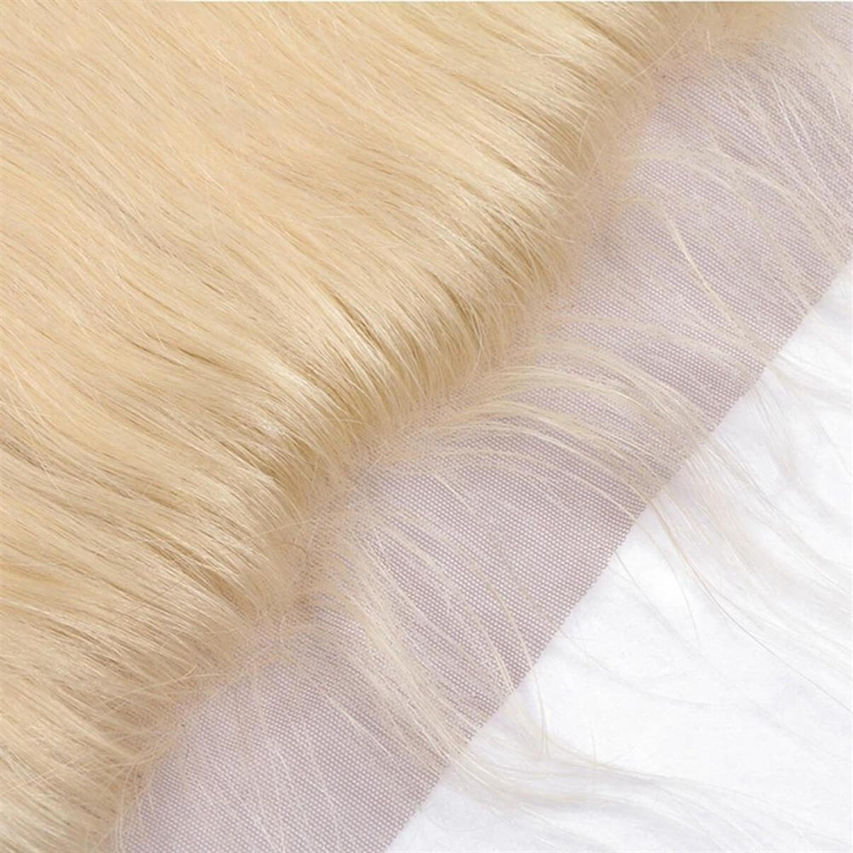 Lakihair 10A 613 Blonde Brazilian Straight Hair Ear To Ear Lace Frontal Closure