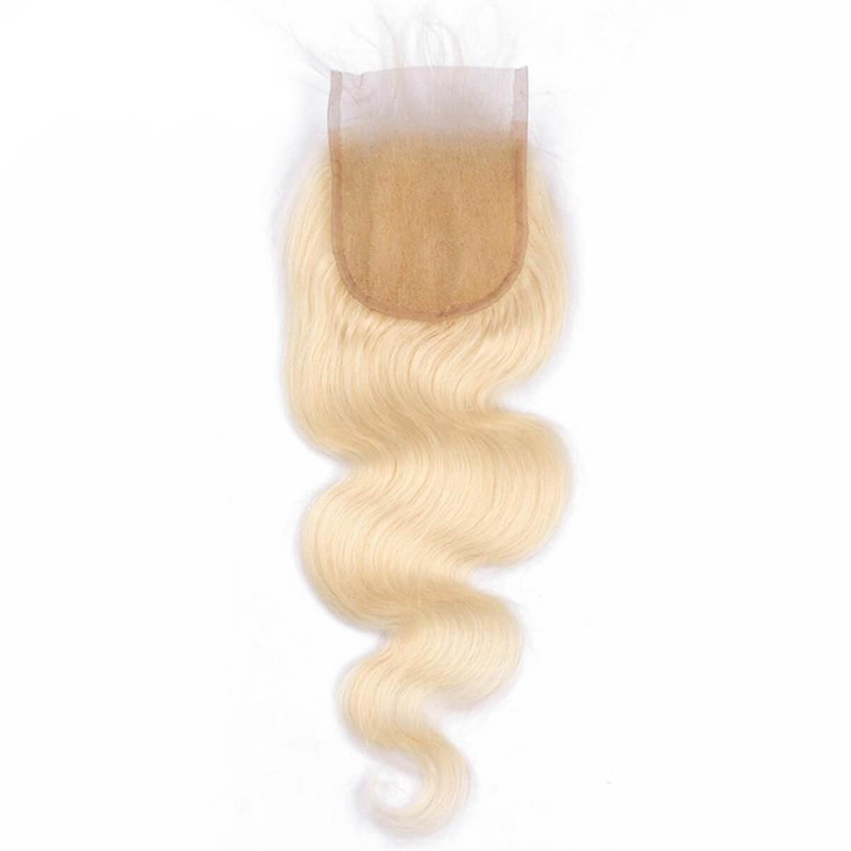 Lakihair 10A 613 Blonde Color Body Wave Lace Closure 4x4 Brazilian Virgin Human Hair