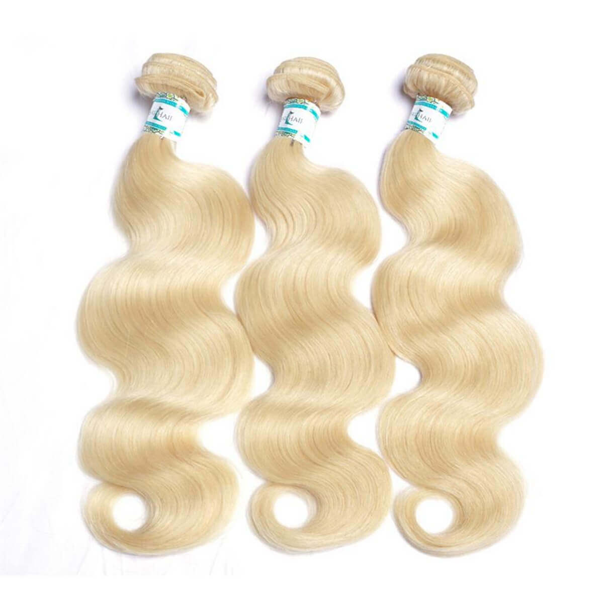 Lakihair 10A 613 Blonde Hair Bundles Body Wave Virgin Brazilian Hair 3 Bundles Hair Extensions