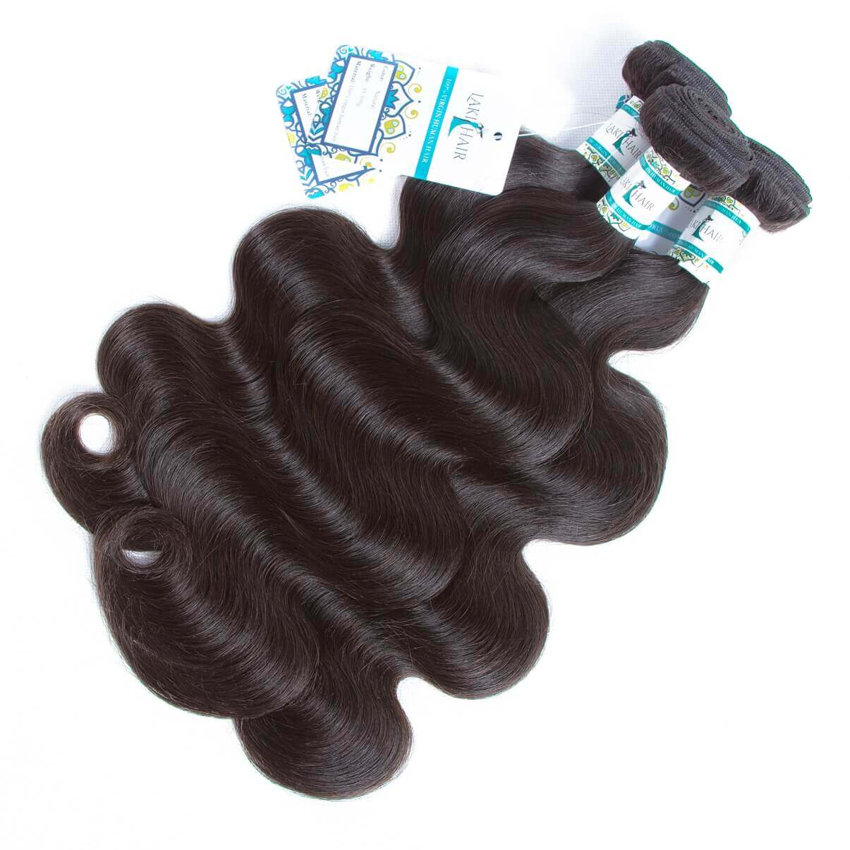 Lakihair Brazilian Body Wave Human Hair Weaving 3 Bundles Unprocessed Virgin Human Hair Extensions