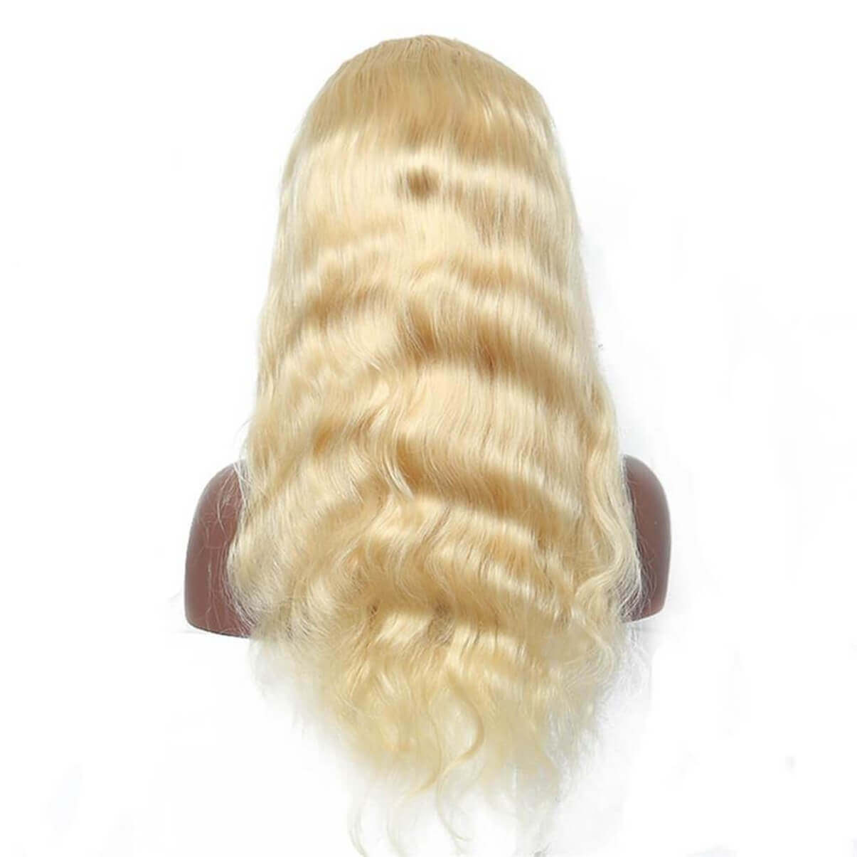 Lakihair 613 Blonde Body Wave Full Lace Wigs Brazilian Virgin Human Hair Wigs