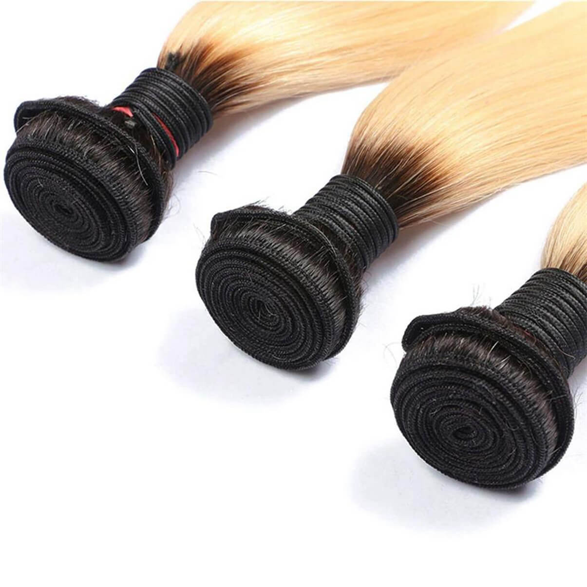 Lakihair 8A Brazilian Virgin Human Hair 1 Pcs Straight Hair 1B/613 Blonde Hair Weaving